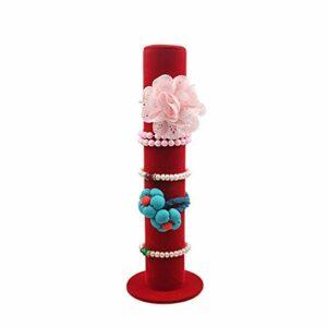 KSFBHC Bracelet Accessoires de Cheveux Rack Rack Vertical Bijoux Bracelet Bracelet Bracelet présentoir (Color : Red)
