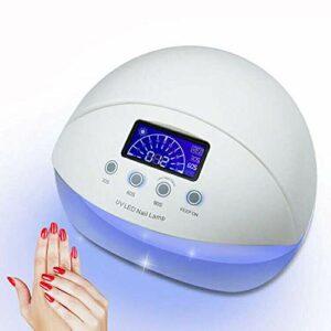 Lampe UV à ongles LED, séchoir à ongles 50W, machine de polymérisation de gommage par art pour capteur automatique