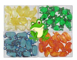 Lot de 4 boîtes de 12 perles d'huile de bain – ANIMAUX