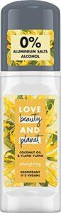 Love Beauty And Planet Energizing Déodorant à bille pour le soin des aisselles à l'huile de noix de coco et à l'ylang sans aluminium 50 ml