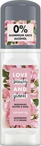 Love Beauty And Planet Pampering Déodorant à bille pour le soin des aisselles au beurre de Murumuru et à la rose sans aluminium 50 ml
