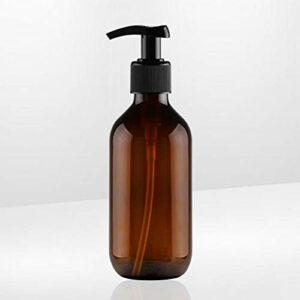 Lurrose 1 pcs – 300 ml de bouteille de douche en plastique étanche aux fuites rechargeable pompe à émulsion salle de bain air