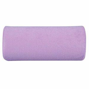Main Oreiller-Nail Art coussin de main souple portable éponge oreiller Manucure Outil de maquillage Violet