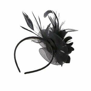 mariage voile accessoires fascinateur serre-tête dames chapeau plume fleur bandeau de cheveux de soins personnels