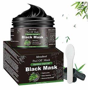Masque Peel Off, Masque Point Noirs, Black Mask, Masque Charbon Point Noir, Nettoyant en Profondeur Rétrécir Pores, Supprime Points Noirs/Acné, Pour Une Peau Pure Lisse