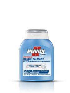 MENNEN – Baume Calmant 2 en 1 Homme après-Rasage + Soin Visage pour Peaux Réactives – 100 ml