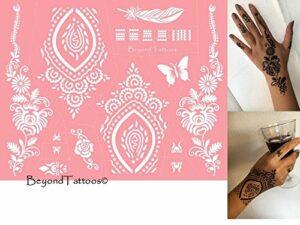 Mes01 Pochoirs avec microfilet pour tatouage du corps Faciles à utiliser et réutilisables