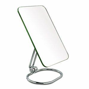 Miroir à une face miroir pliant de maquillage miroir en acier inoxydable miroir de voyage
