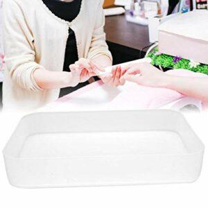 Nail Art Tool Case Nail Container Conteneur de maquillage Pratique Durable pour les outils à ongles Pinceaux de maquillage pour le ménage(Transparent)