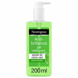 Neutrogena Gel Nettoyant Visage, Soin Visage Anti-Brillance, Citron Vert, 1 Flacon Pompe de 200ml