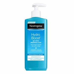 Neutrogena Hydro Boost Gel Crème Désaltérant Corps – Soin hydratant corps – Pour une peau souple et éclatante – 3 x flacon pompe de 250 ml