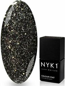 Nyk1Graphite Sparkle–Shelalc Vernis à ongles gel aux UV et compatible LED