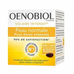 Oenobiol, Solaire Intensif Préparateur Peau Normale, Complément alimentaire, Préparateur solaire, 1 Boîte, 30 Capsules