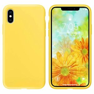 Oihxse Silicone TPU Gommage Case Compatible pour Huawei Mate 10 Coque Ultra Fine Souple Protection Housse Mignon Couleurs Bumper Étui Anti-Rayures Cover(Jaune)