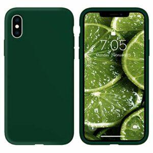 Oihxse Silicone TPU Gommage Case Compatible pour Huawei P20 Coque Ultra Fine Souple Protection Housse Mignon Couleurs Bumper Étui Anti-Rayures Cover(Vert foncé)