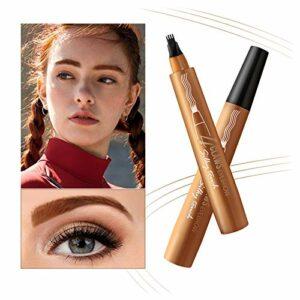 Onlyoily Tatouage Crayon à Sourcils avec 4 conseils Imperméable à l'eau & Longue Durée Crayon d'encre Croquis de Stylo de Sourcil pour le Maquillage Naturel d'yeux (01)