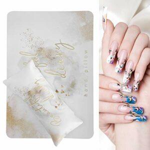 Oreiller de repose bras d'art d'ongle, coussin de main de conception d'ongle pour le salon de beauté et la maison, oreiller de main de manucure avec coussin