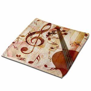Pétales de rose grunge abstraites et notes de musique Gants de toilette Vintag pour le bain 13×13 pouces Serviettes en microfibres ultrafines en fibres pour les cheveux Des débarbouillettes douces su