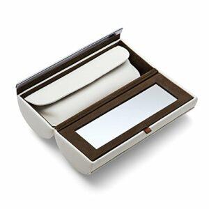 Philippi Design Boîte à maquillage 128064DONATELLA–Veau véritable cuir blanc–Trousse supplémentaire pour maquillage Ustensiles