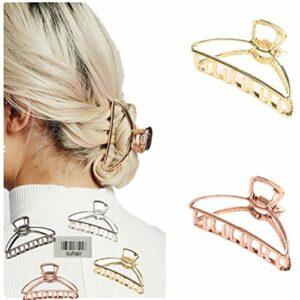 Pince à cheveux Cuhair – Simple – En métal – Style rétro, punk – Pour queue de cheval – Pour femme – Salle de bain