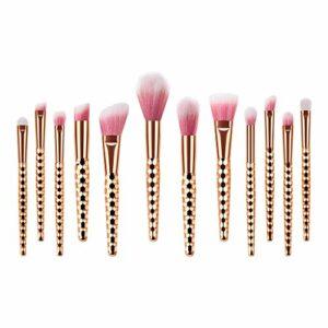 Pinceaux de Maquillage Set de 20 Pièces Premium Coloré Fondation Mélange Blush Yeux Visage Poudre Brosse Cosmétiques, Trousse de toilette Trousse de toilette en laine (ZC)