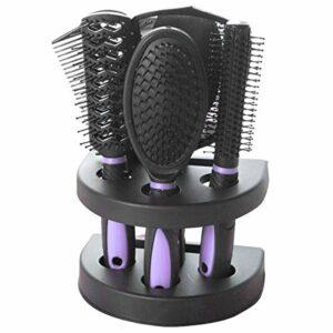 Ponacat Kit de Peigne de Massage Ensemble de Brosses à Cheveux Antistatiques Comprend 1 Miroir de Maquillage 4 Peigne à Cheveux 1 Support