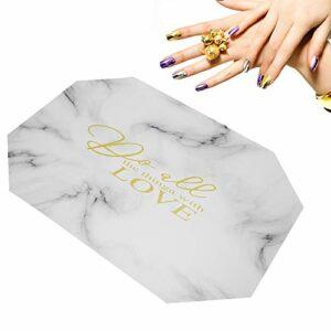 Ponacat Repose-ongles en cuir synthétique pliable avec deux styles de repose-mains et éponge amovible avec fermeture éclair – Pour salon professionnel – Outil de manucure