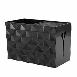 Porte-cisaillement professionnel rack Ciseaux Boîte de rangement Barrettes cas coiffure Organisateur noir pour alimentation Styliste Beauté