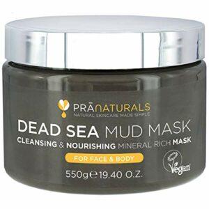 PraNaturals Masque pour le Visage et le Corps 100% Naturel à la Boue de la Mer Morte, 550g