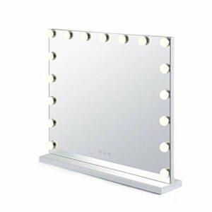 QILIN Miroir De Maquillage Professionnel Hollywood avec 17 Miroirs De Maquillage De Bureau Éclairés par LED, Peut Être Utilisé pour Le Maquillage Et Les Soins du Visage