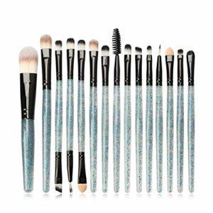 Qsdxlsd Pinceau de Maquillage 15pcs / Set Pinceaux Profession Ombre à paupières Teint Poudre Eyeliner Cils Lèvres Maquillage Pinceau (Handle Color : 04)