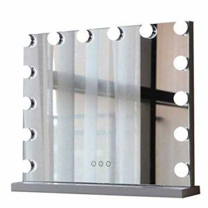 Relaxbx loupe 2X Recto-Verso Tenue dans Main portative cosmétique en métal de Miroir pour Le Soin cosmétique de Peau rasant et voyageant