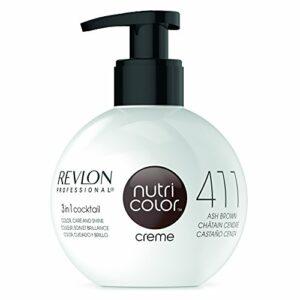 REVLON PROFESSIONAL La Crème Soin Couleur Repigmentant 411 Châtain Cendré, 270ml