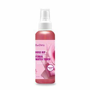 RoseHip Face Toner Spray – Brume pour le visage nourrissante et hydratante – Eau du visage pour la peau et les yeux qui aide à équilibrer le PH, apaise les yeux gonflés et les rougeurs – Eau de rose pour les peaux sèches à tendance acnéique grasse