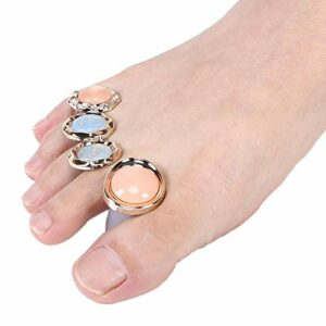 Séparateur d'orteils de séparateur d'orteil d'art d'ongle lavable durable 8 pièces pour l'art des ongles pour la beauté à usage domestique pour la pédicure(MY-03)