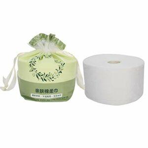 Serviette de toilette jetable en coton, serviettes de maquillage sèches 100% coton, serviette pour le visage rouleau de nettoyage du visage papier mouchoir doux pour la peau (1 sac équivaut à 95 pièce