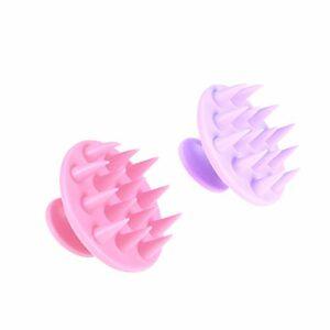 SUPVOX 2pcs cheveux scalp masseur shampooing brosse silicone peigne à laver cheveux pour salon de la maison