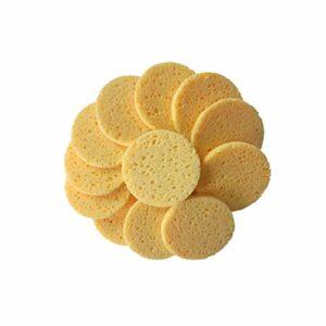 SUPVOX 40pcs cellulose éponge loofah pad récureur visage corps douche bain spa tampons exfoliant maquillage éponges pad pour femmes