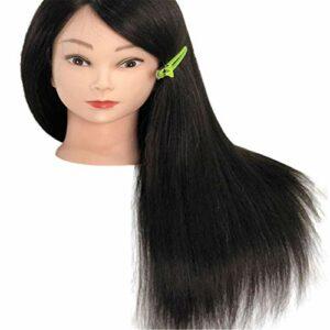SXFYMWY Tête de Formation, tête de Coiffure Mannequin de Cheveux Humains cosmétologie tête de poupée tête de Mannequin de Formation pour coiffeurs