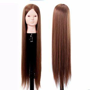 SXFYMWY Tête d'entraînement tête de Mannequin tête d'entraînement cosmétologie tête de Mannequin tête de poupée Style tête d'entraînement tête de Mannequin Cheveux pour Tissage
