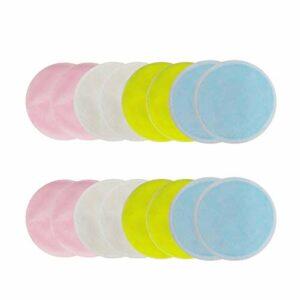 Tampons de démaquillant réutilisables 10PCS, rondelles en coton bambou organique, lingettes démaquillantes zéro déchet pour le visage, fard à paupières, mascara, maquillage rouge à lèvres supprimer