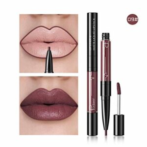 TAOtTAO Crayon à lèvres imperméable double extrémité 16 couleurs (I)