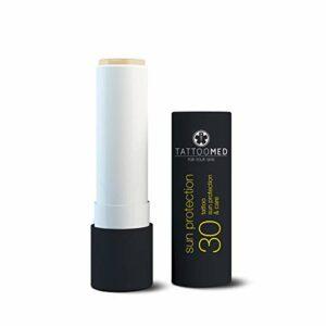 TattooMed Soin pour Peau Tatouée Crème Solaire Sun Protection Stick SPF30 4,8 g