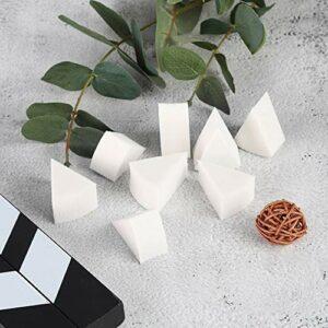 Triangle cosmétique bouffée éponges cosmétiques fond de teint bouffée pour le maquillage d'effets spéciaux pour l'art des ongles pour l'utilisation de l'art corporel