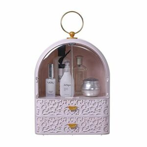 TYJKL Organisateurs cosmétiques de Bureau Cosmétiques Boîte de Rangement ménager Rouge à lèvres Soin de Peau Coiffeuse étagère pour la Chambre de la Commode (Color : Pink, Size : One Size)