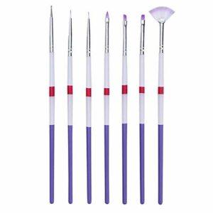 TYWZJ Pinceau de Maquillage, Pinceau de Maquillage de Mode féminine 7pcs Gel UV Acrylique Nail Art Brush Set Art Builder Peinture Stylo Conception Nail Art Tools-style2