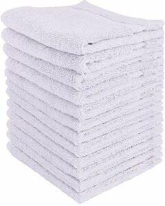 Utopia Towels – Lot de 12 gant de toilette, débarbouillettes – 30 x 30 cm, Blanc