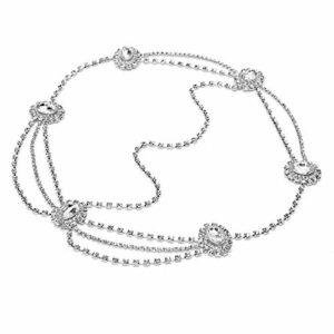 Uxsiya Accessoires de Bijoux de Cheveux Chaîne de tête exquise à la Mode pour Les Tenues décontractées pour Les soirées(Silver)