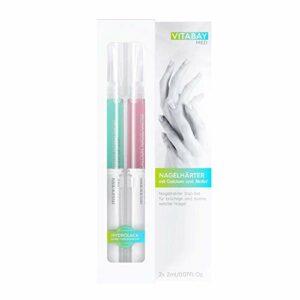 Vitabay durcisseur ongles Duo-Set (2x2ml) • réparation des ongles avec calcium et biotine • Pour ongles cassants, fissurés et mous