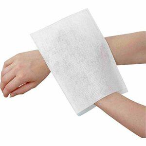 Vivezen ® Lot de 200 gants de toilette non tissés jetables 15 x 23 cm – Blanc – Norme CE